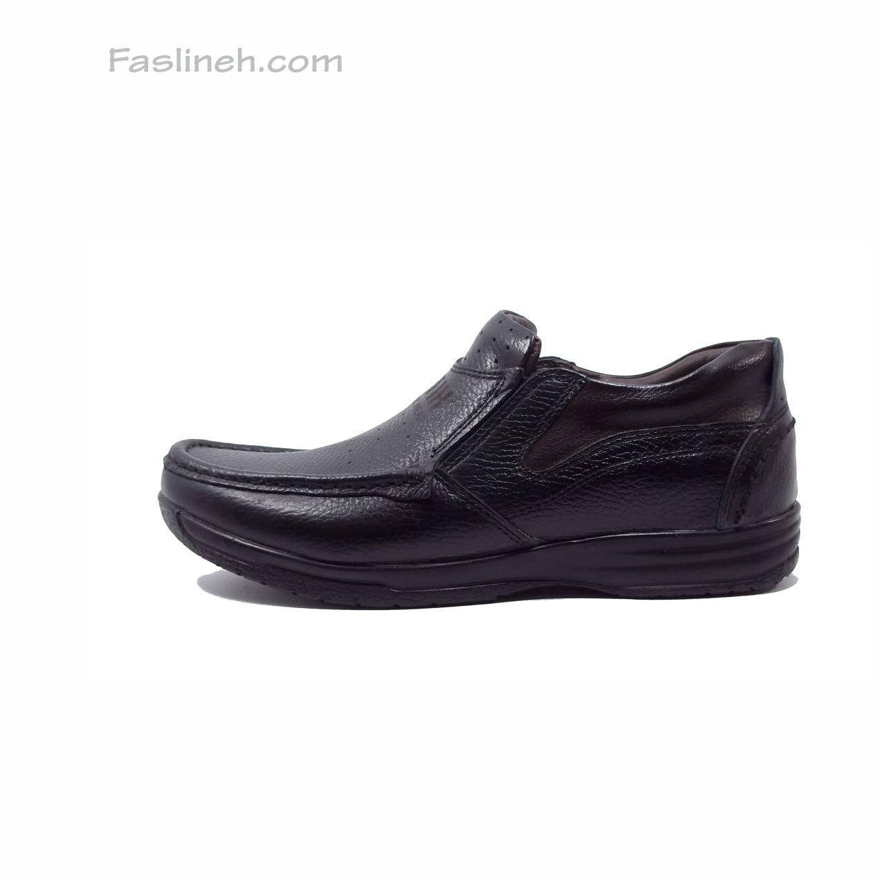 کفش چرم طبی آنتیک مشکی