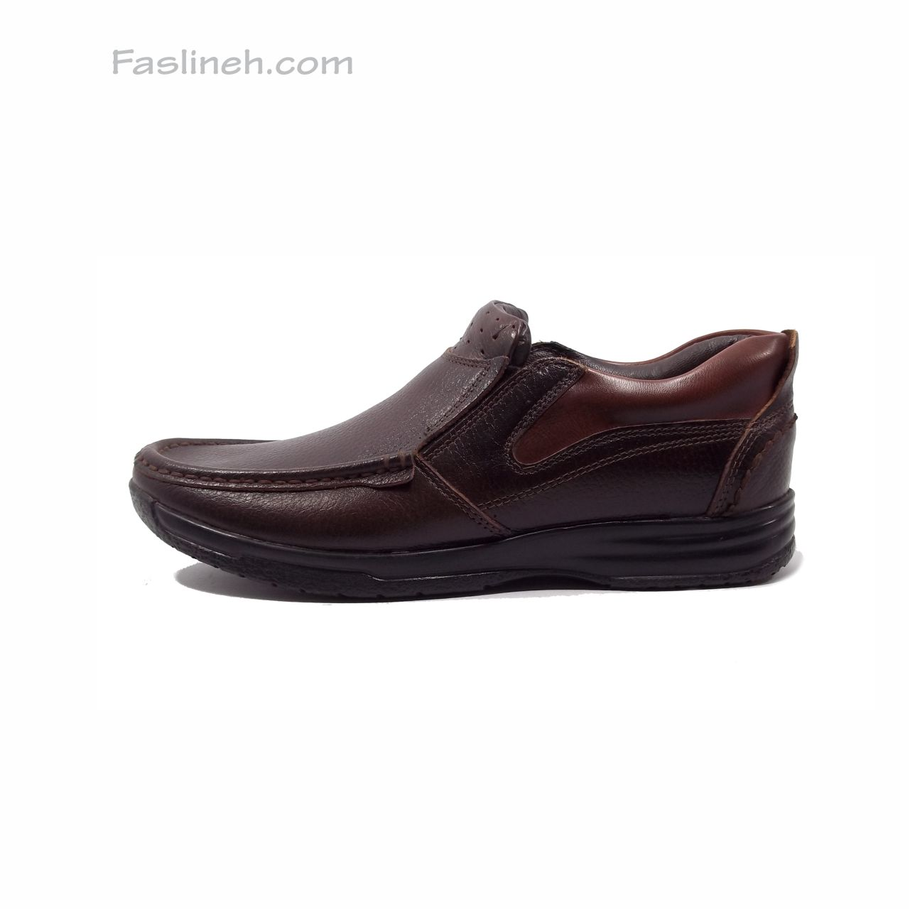 کفش چرم طبی آنتیک قهوه ای