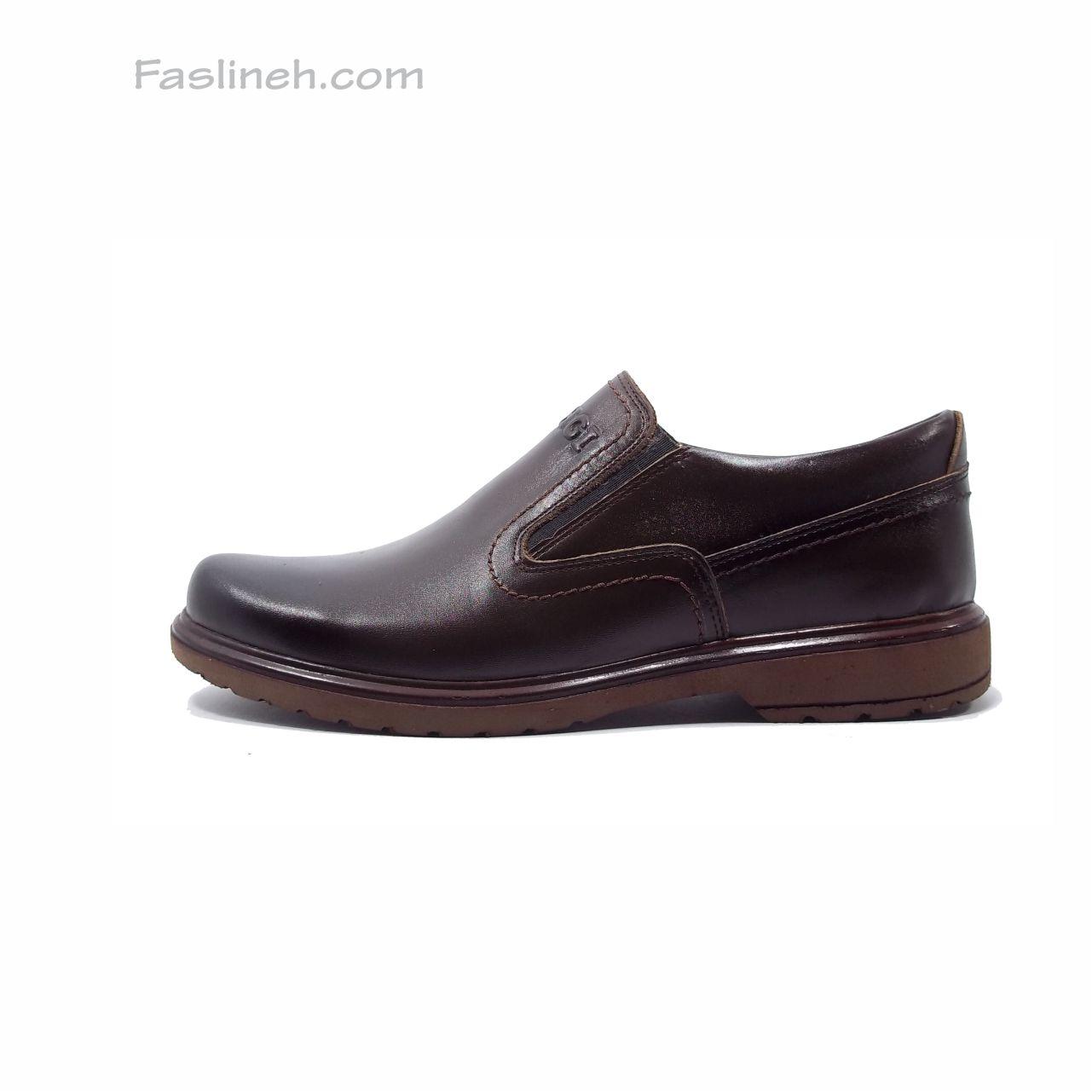 کفش چرم راحتی  عشقی قهوه ای