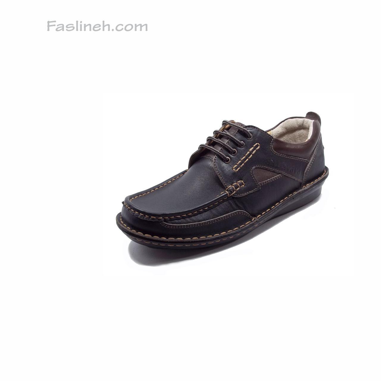 کفش چرم طبی پاپک مشکی