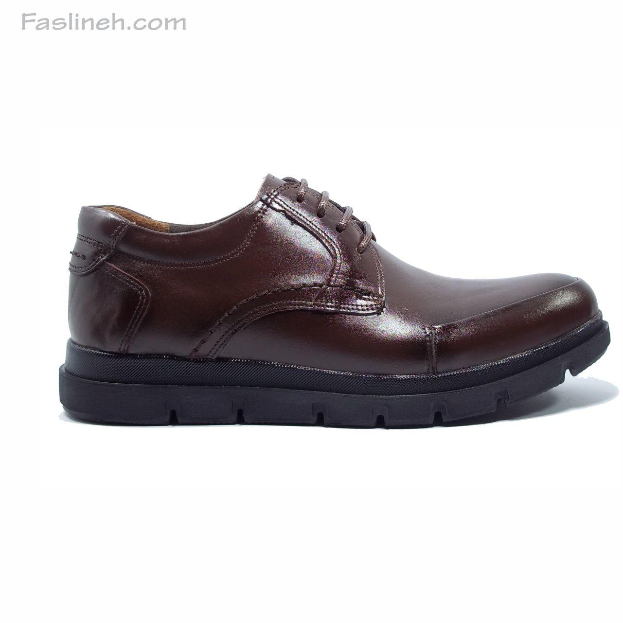 کفش چرم الگانت جدید قهوه ای