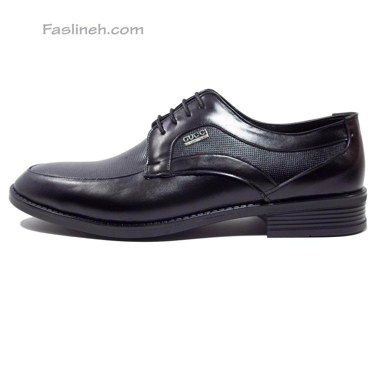 کفش چرم پانچی لاتون مشکی