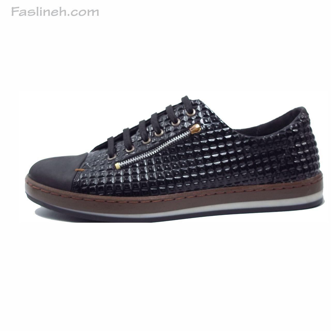 کفش اسپرت مدل اپل  زیپی مشکی