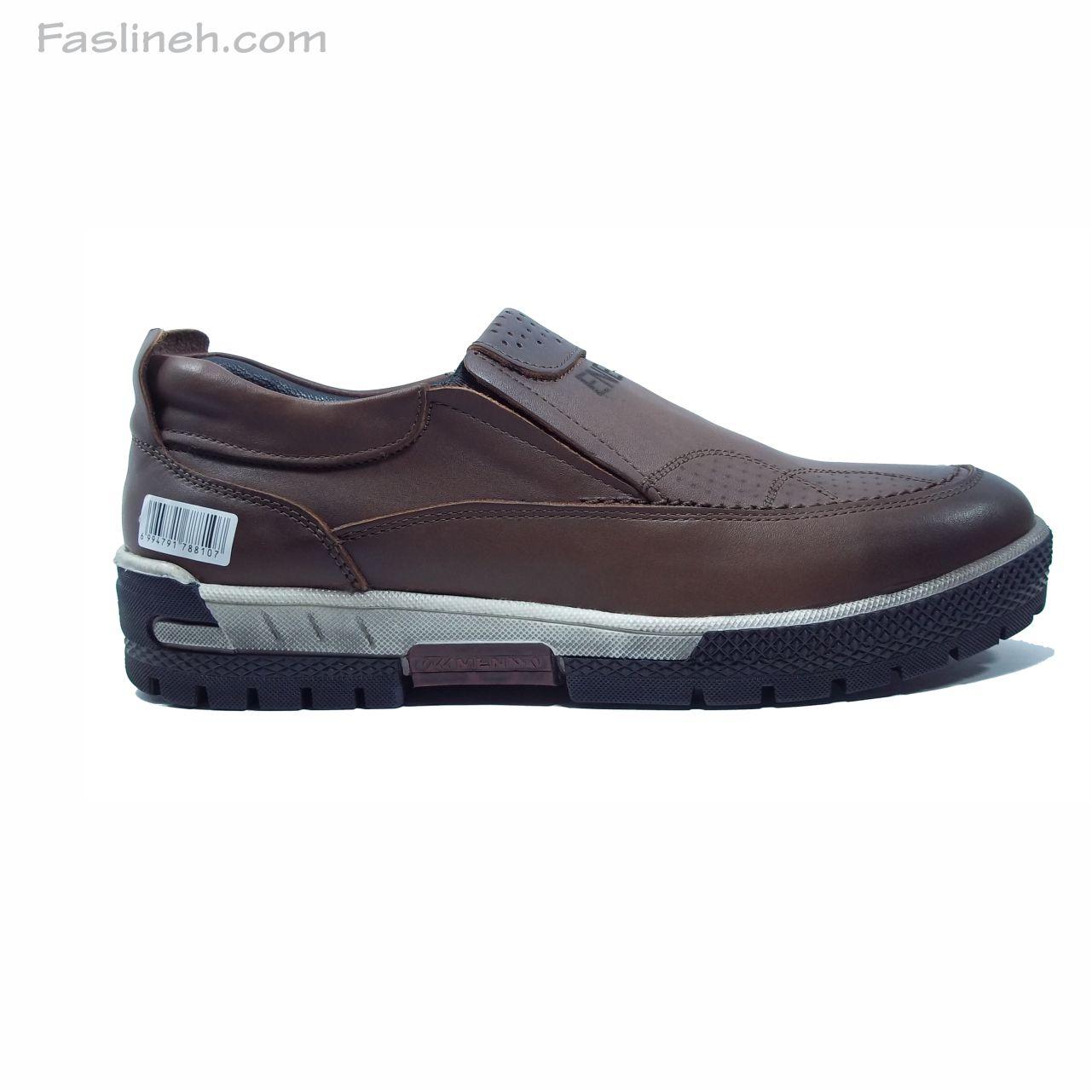 کفش اسپرت چرم مدل انرژی قهوه ای