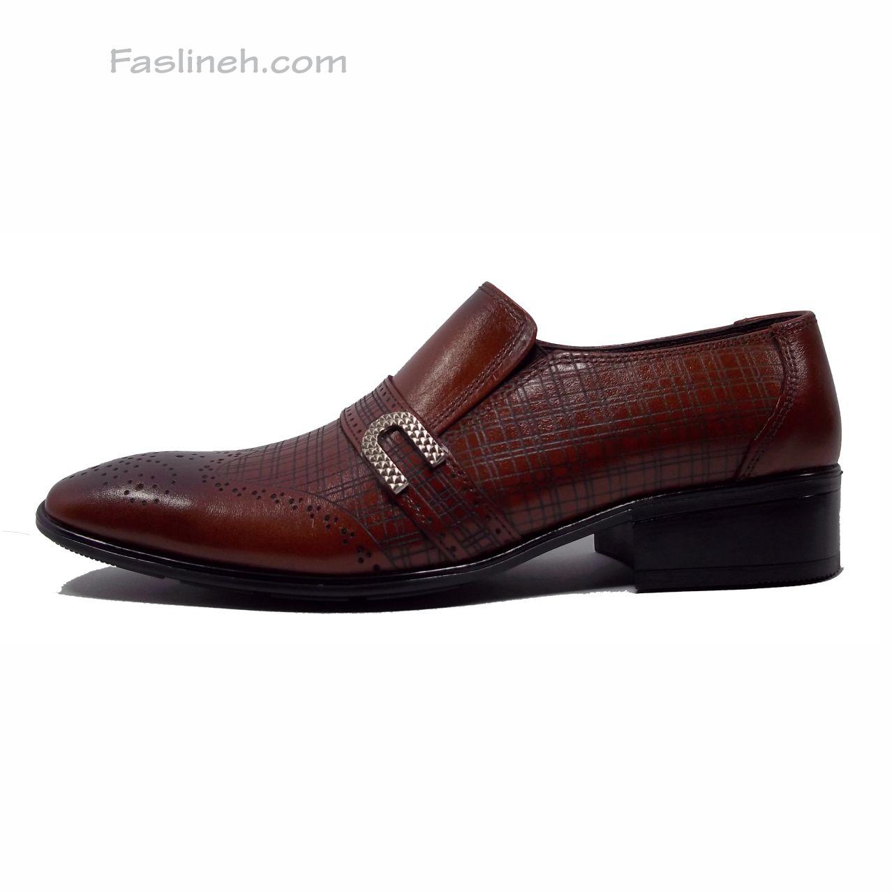 کفش چرم هشترک  psb عسلی