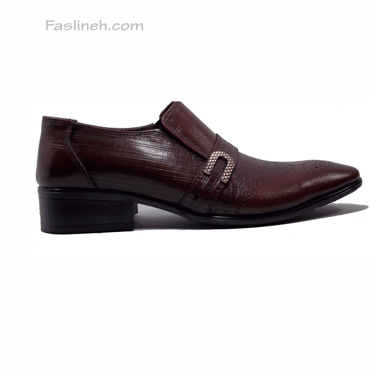 کفش چرم هشترک psb قهوه ای